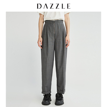 DAZZLE Disin 2019 winter dress new mixed sheep wool straight suit casual pants female 2G4Q4231E