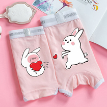 Couple underwear cotton suit cute personality Meng rabbit sweet sexy double underwear men and women new trend