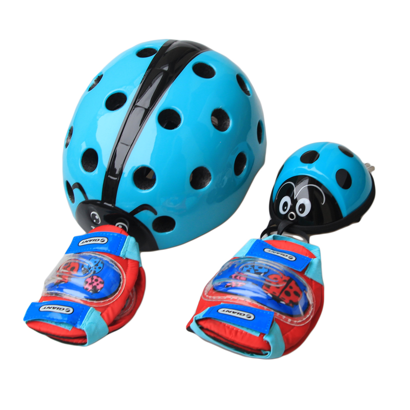 Genuine Giant Helmeted Children's Trolley Balancer Bicycle Helmet Knee and Wrist Protector Set