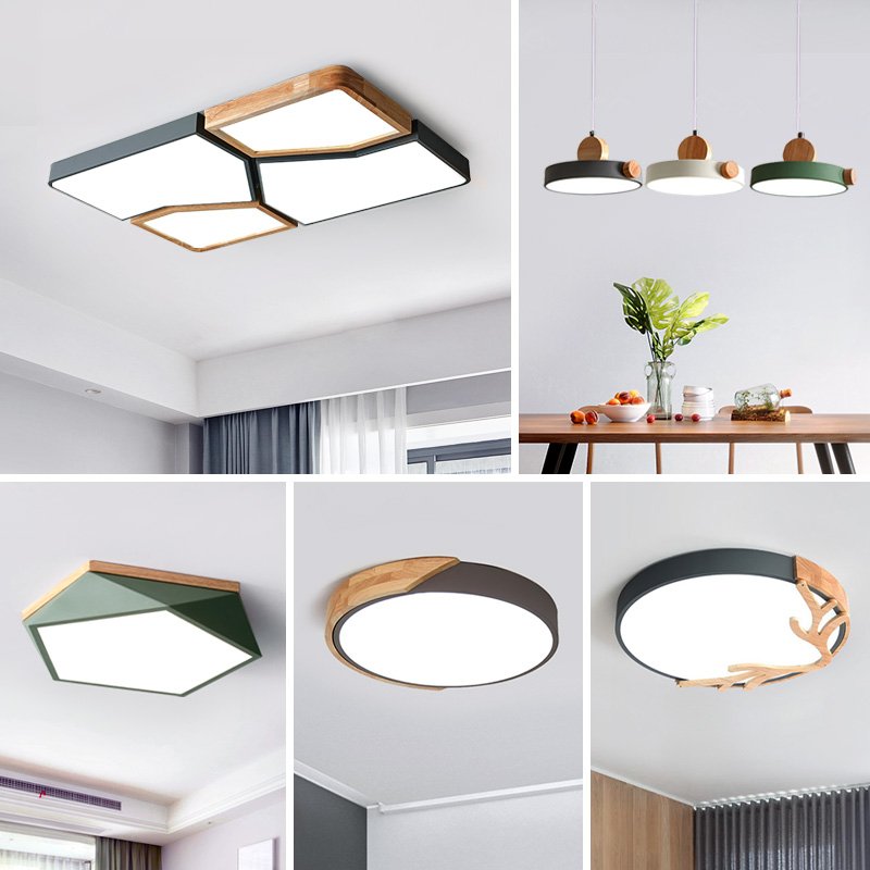 Nordic Lighting Set Living Room Lights Simple Modern Atmospheric Household 2019 New Bedroom Hall led Suction Roof Lights