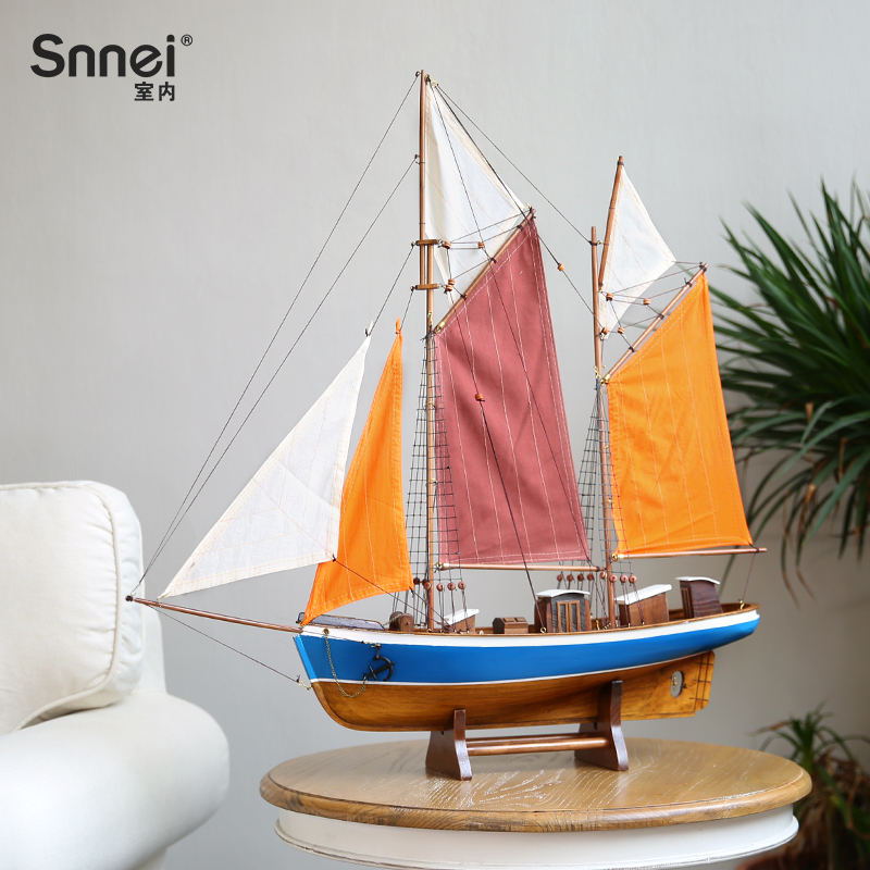 Modeling Decorations of Solid Wooden Sailing Vessel 75 cm Assembly of Wooden Sailing Craft Vessel