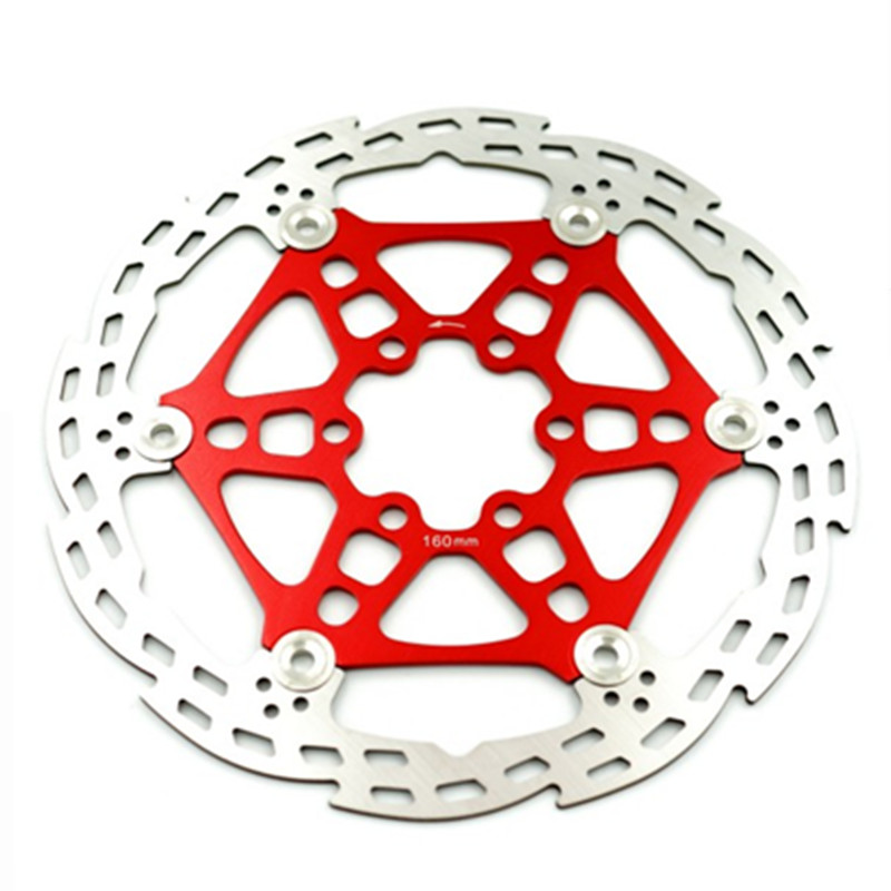 Authentic mountain bike floating disc floating disc brake disc 160mm ultra light cooling high performance disc brakes