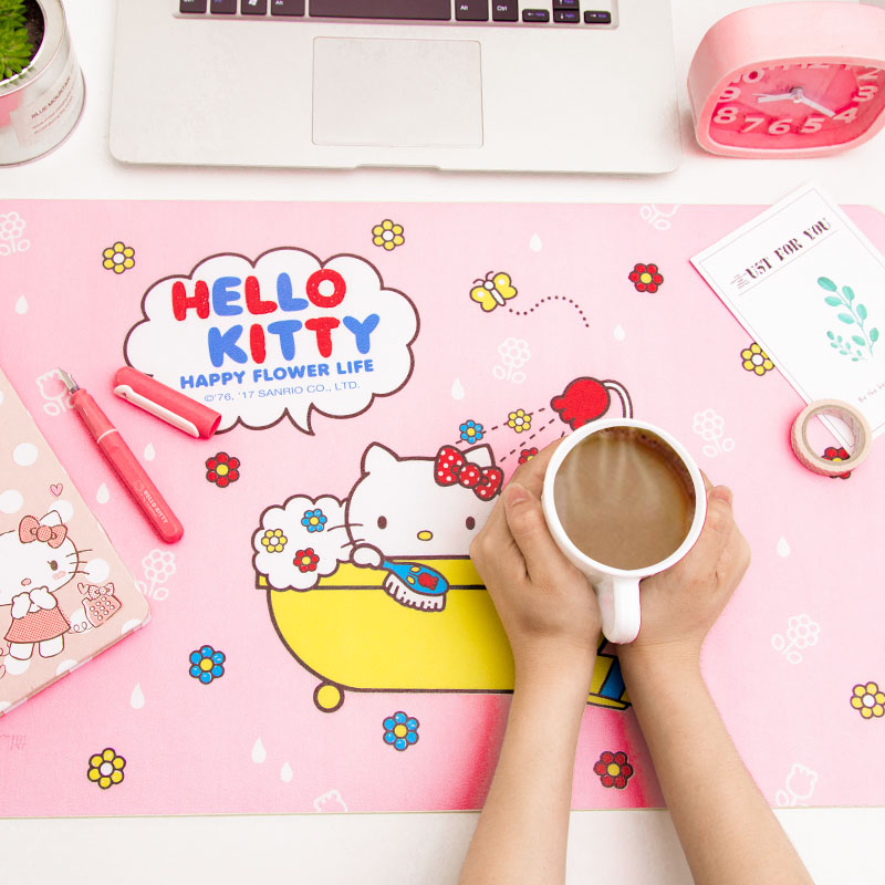 [hello kitty X Guangbo] desk pad cute cartoon large writing pad game mouse pad table mat