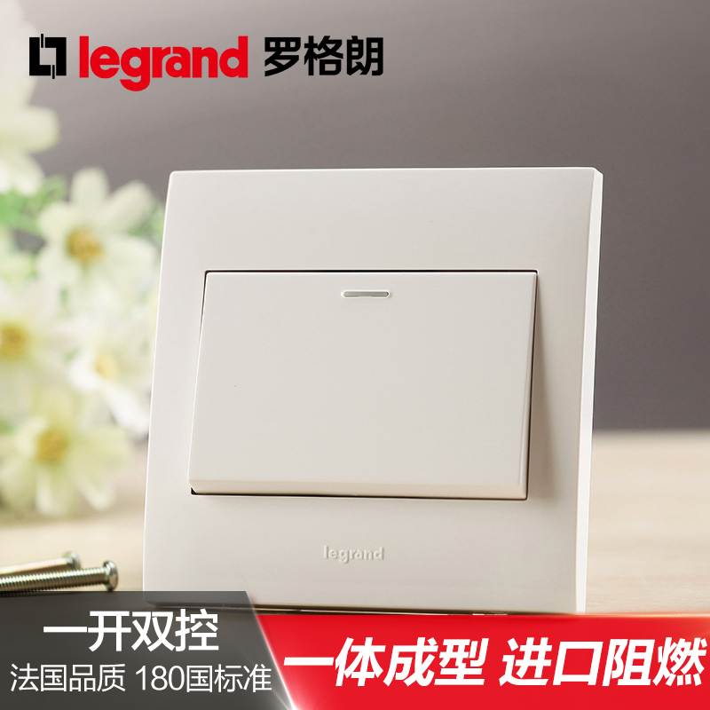 Legrand TCL Switch Socket Shijie Yabai Open Dual Control One Double Wall Panel Type 86 Switch