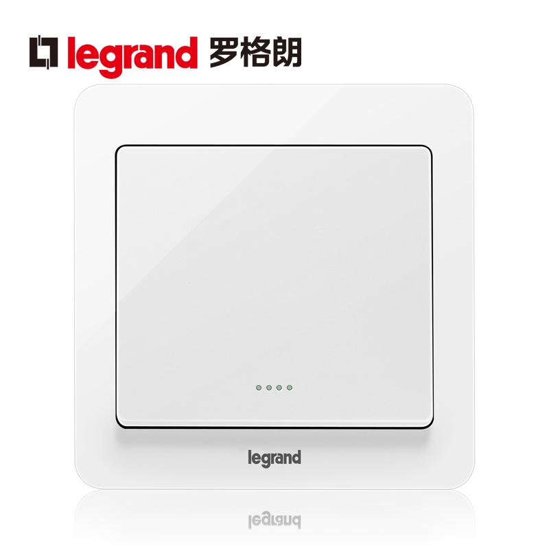 Legrand switch socket tcl panel Yi Dian round white open dual control with fluorescent wall power supply type 86