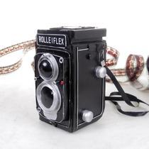 Nostalgic old tin Rolleflex double reverse old camera model vintage photography props modeling elements