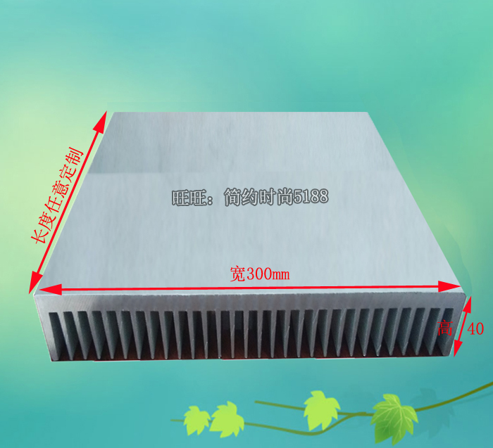 amplifier radiator heat sink aluminum radiator width 300 height 40 length 100mm length can be customized