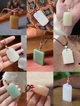 10 9 Update a piece of natural high quality Hetian Jade female pendant Limited Collection