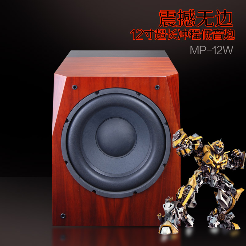 original wood gold front passive 12 inch bass home theater subwoofer bass speaker passive subwoofer