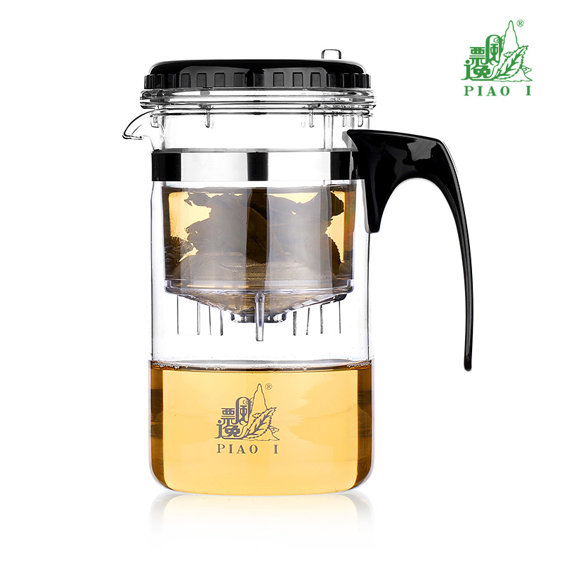 Taiwan Travel Buddy Elegant Cup GL-865 500ML Manual Heat-resistant Glass Tea Cup Easy Bubbler