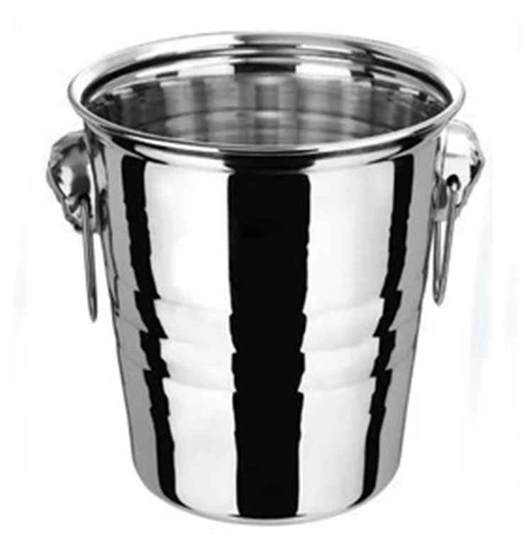 Large stainless steel ice bucket wine champagne ice bucket beer barrel spit wine barrel ktv bar dedicated ice bucket ice clip