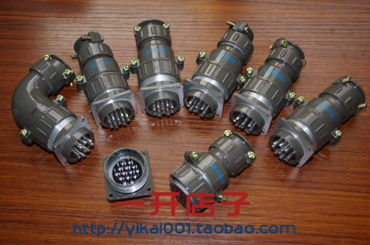 Round Connector P32-4 Core, 7 Core, 8 Core, 10 Core, 12 Core, 14 Core, 19 Core Forward and Reverse Air Plug