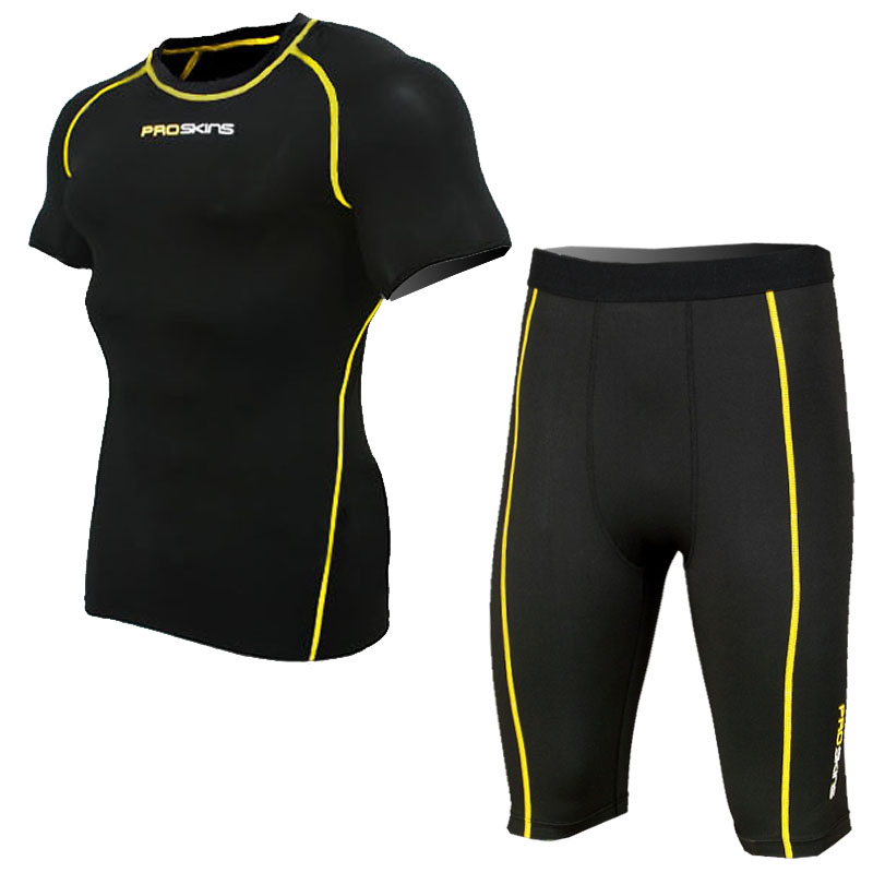 PROSKINS short-sleeved shorts pants Jersey suit compression / tights stretch quick-drying suit training suit
