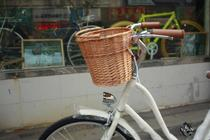 Bicycle Willow-knitted Uncovered Basket Folding Bicycle Basket Permanent C Bicycle