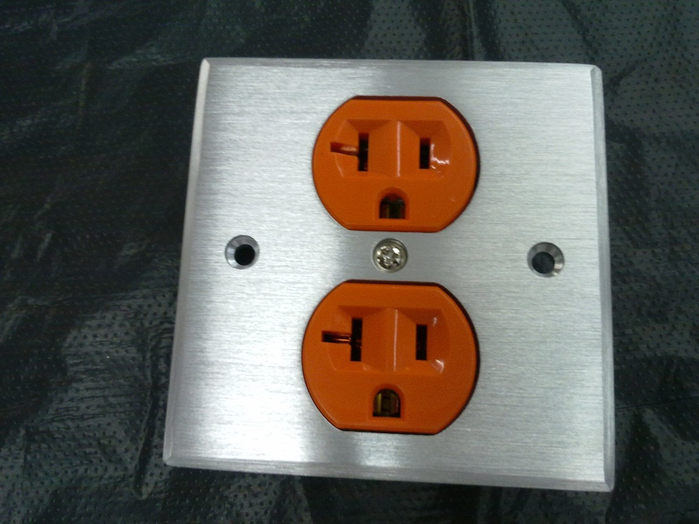 Advanced 2-position aluminum alloy panel into the wall plug American standard orange power socket core socket type 86