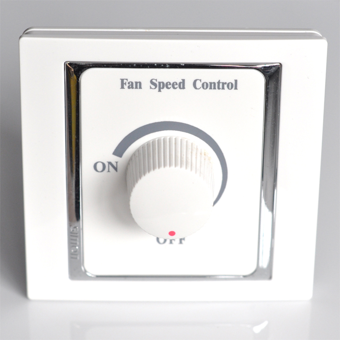 Simon Switch Xingui 58 Series 100W Fan Coil Unit Speed Regulating Switch S56202