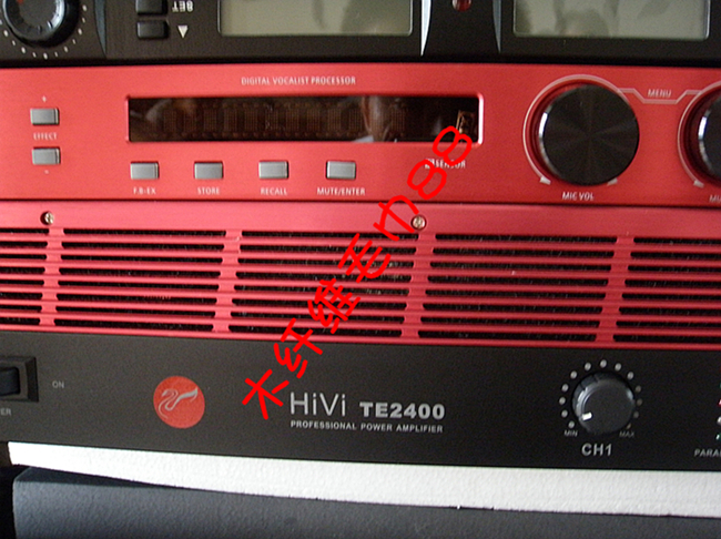 Ultra-luxury KTV speaker HK100 professional power amplifier Huiwei PA400/TE2400