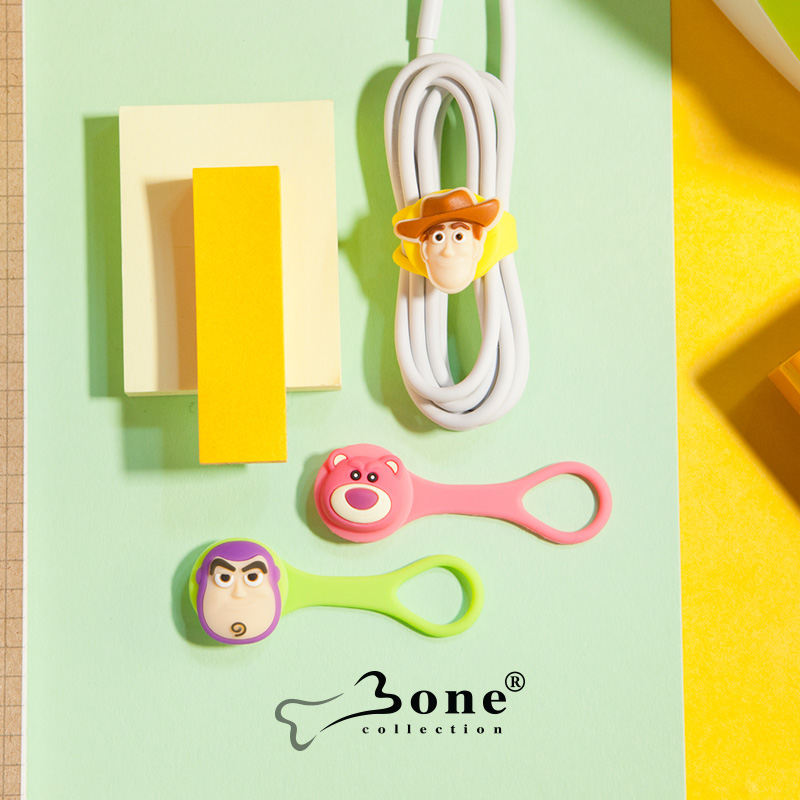 Bone Apple 7 Multifunction Headphone Winder Silicone Ties Cartoon Harness Data Cable Ties Korea Bundle