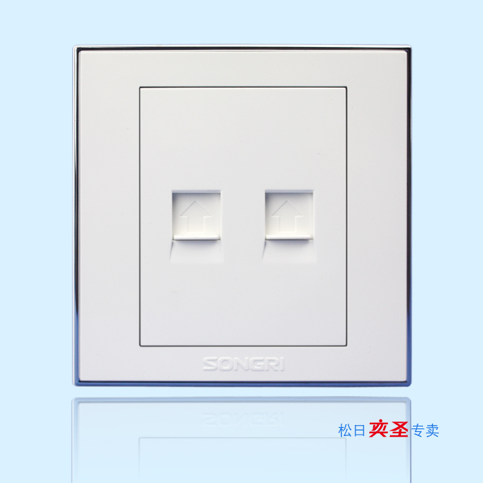Shanghai Songri Switch Socket Steel Wisdom Series Telephone Belt Computer Socket 616079