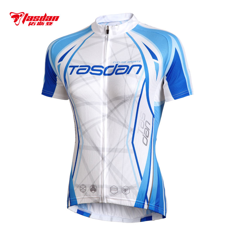 [The goods stop production and no stock]Tasdan spinning bicycle suit female short-sleeved Jersey suit bicycle Jersey women's shirt summer quick-drying