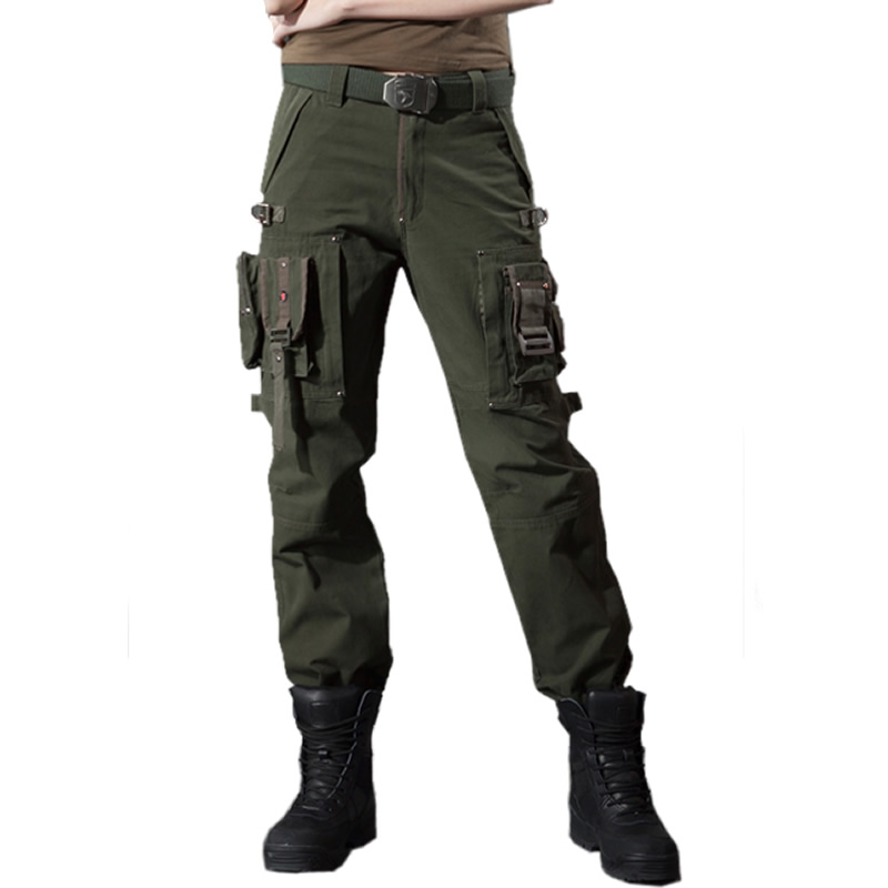 Free Knight Outdoor Couple Charge Trousers for Men and Women with Straight Bottom and Loose Workwear Long Pants for Multifunctional Mountaineering Tactical Army Trousers