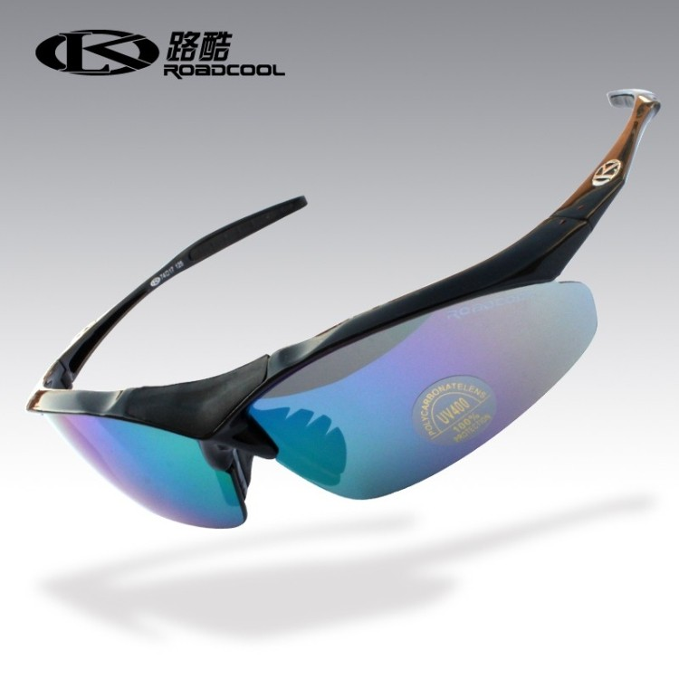 Road cool 0091 men and women polarized sunglasses sunglasses riding sports outdoor glasses bulletproof mirror 5 group lens