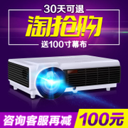 By K808 1080p wireless WiFi smart home projector HD LED projector mobile phone office 3D