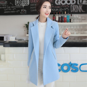 Season 2017 clearance autumn ladies thin wool coat Korean girls long woolen coat slim size