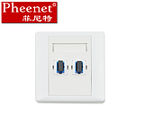 Pheenet Fenit SC dual port 86 type fiber optic panel can be equipped with CommScope panel module does not contain flange