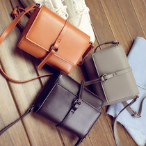 Bag 2016 new small square bag women handbags simple shoulder bag mini bags messenger bag tassel bag diagonal