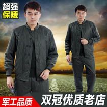 2007 Cold Area Cotton Clothes, Trousers and Trousers Distribution Genuine Cold-proof and Warm-keeping Army Green Cotton Coat for Men in Winter