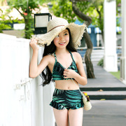 2017 new children's split swimsuit sweet and lovely children bikini two sets of small and medium virgin baby swimwear