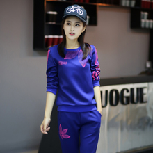 Sportswear Suit Women's Spring and Autumn 2009 New Large-Size Loose Long Sleeve Leisure Sanitary Clothing Two-piece Suit for Autumn