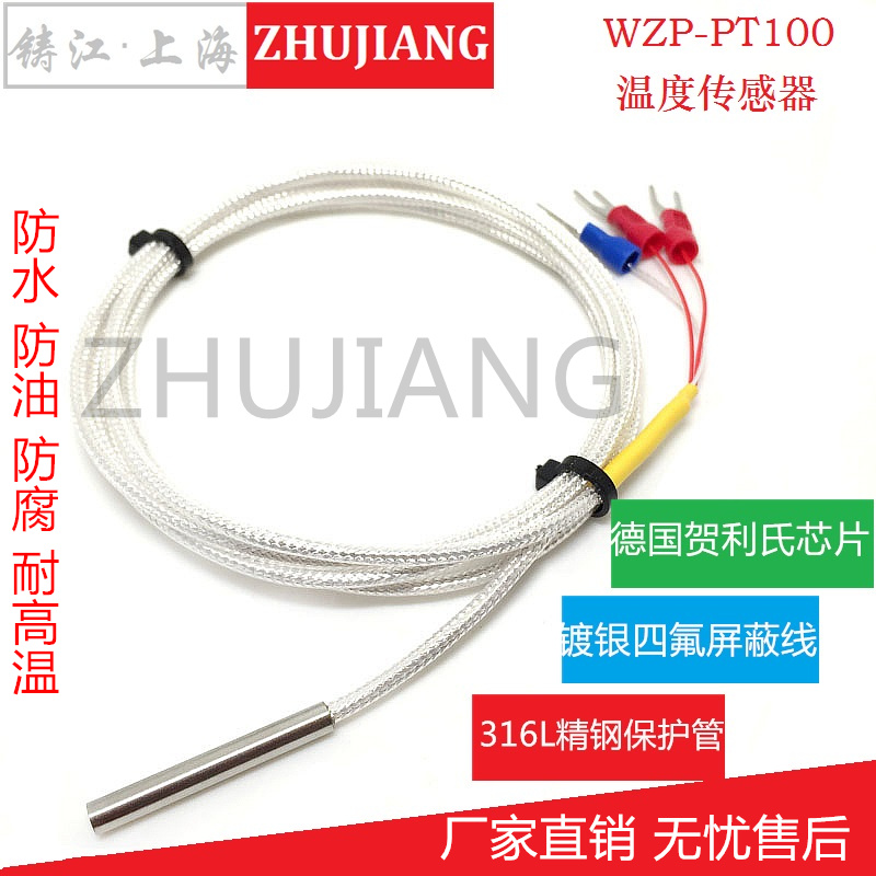 PT100 temperature sensor platinum thermal resistance galvanic precision WZP-PT100 probe temperature high temperature waterproof