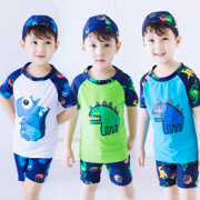 Boy boy children swimsuit swimming trunks suit children body small little dinosaur swimsuit Korea baby sunscreen