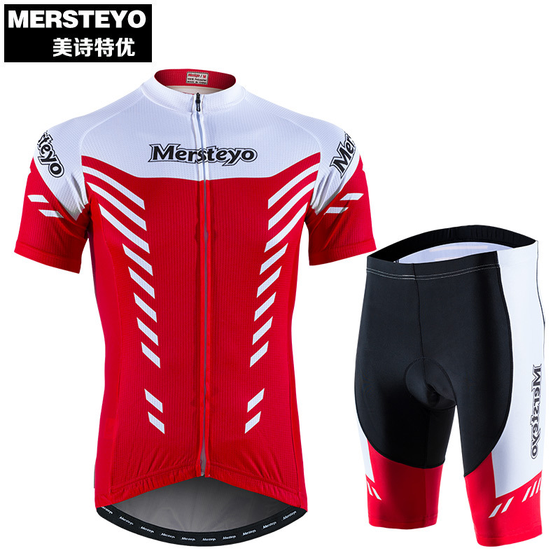 Mersteyo Summer Cycling Wear Short Sleeve Suit Men's Mountain Bike Wear Riding Equipment Spring and Autumn Bicycle Wear Women