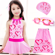 The new children's swimwear girls skirt in Korean conjoined children swimsuit swimsuit Princess Korean girl students