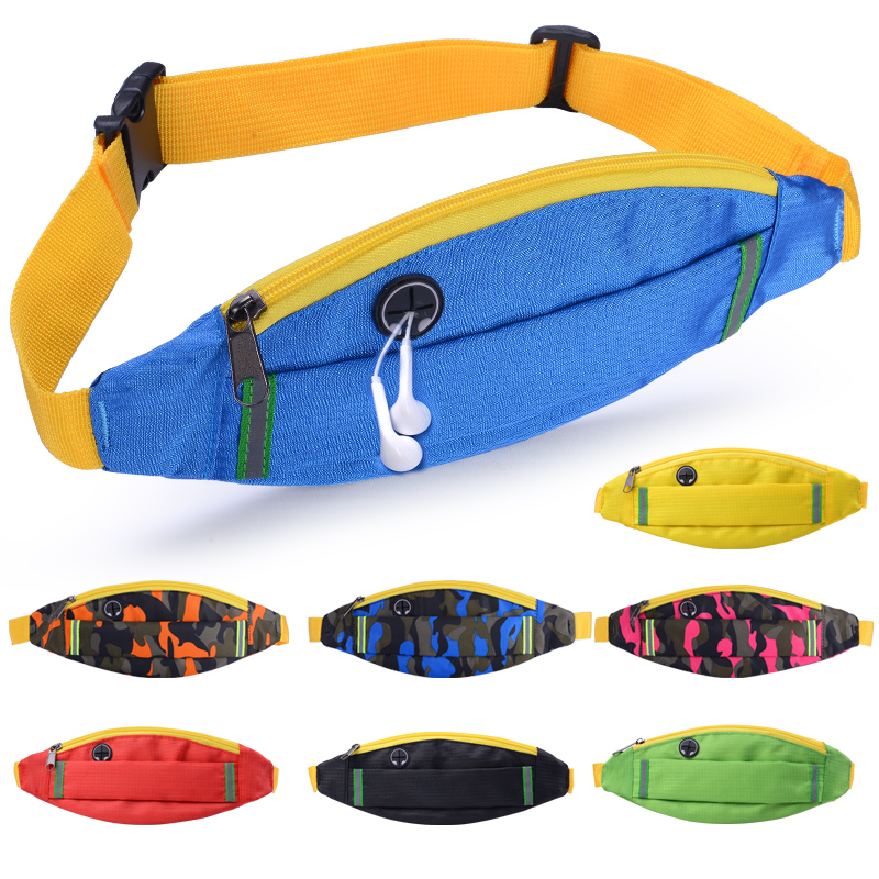Outdoor men and women music phone bag waist bag waterproof sports night running equipment invisible personal fitness