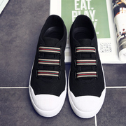 The summer trend of Korean male shoes casual shoes men's canvas shoes men shoes low pedal lazy shoes