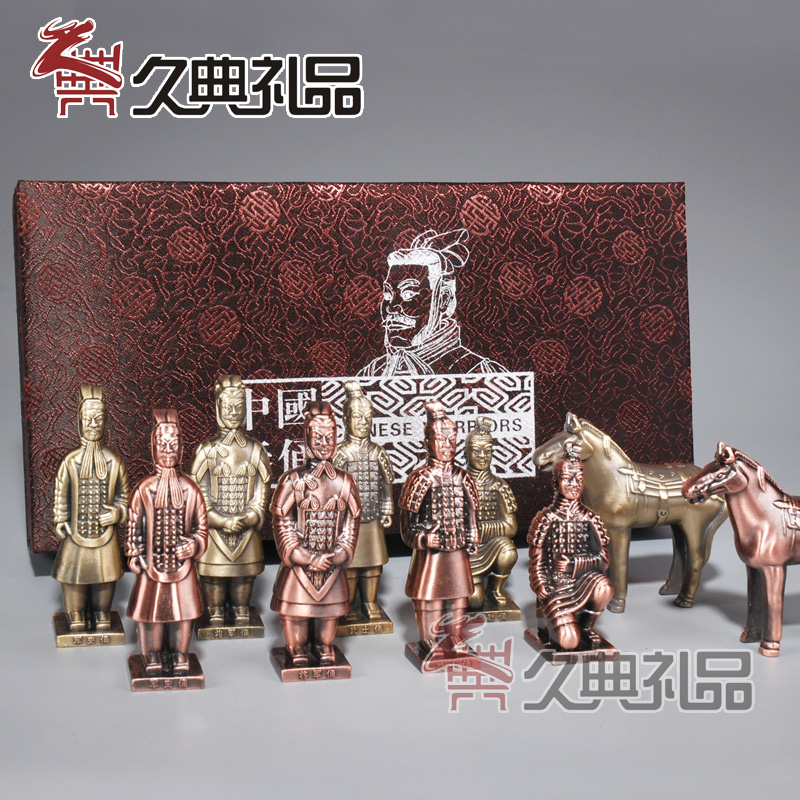 Xi'an Terracotta Warriors and Horses Handicraft Alloy Terracotta Warriors and Horses Souvenirs Business Conference Chinese Style Gift to Foreigners