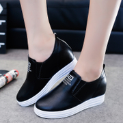 The slope with thick soles muffin loafer female white shoe pedal lazy casual shoes small yards women shoes