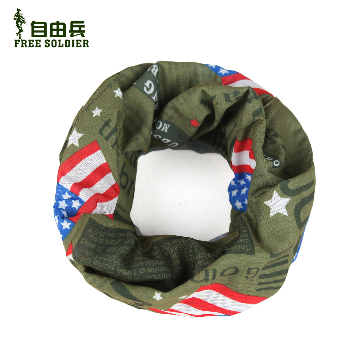 Free Soldier/Freedom Outdoor Sports Headscarf Seamless Riding Hoods Variety Magic Turban