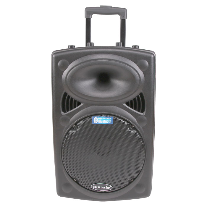 Portable high-power mobile pull-rod speaker with Bluetooth one-button recording