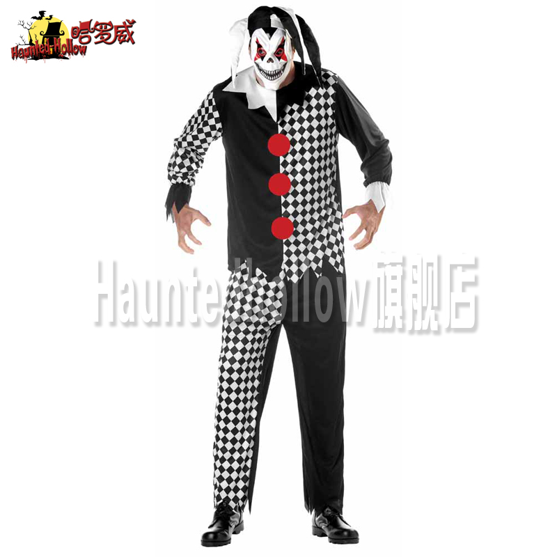 Cosplay Clothes,Halloween Clothes,Hallowe Halloween Ghost Festival Adult Male Cosplay Costume Makeup Outfits Clown Costume F5643