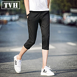 Men's summer casual pants thin section of the trend of pants pants young people in the color of the pants male pants feet 7 pants