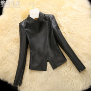 The queen and leather female short paragraph 2016 winter new Haining slim sheepskin coat AC small