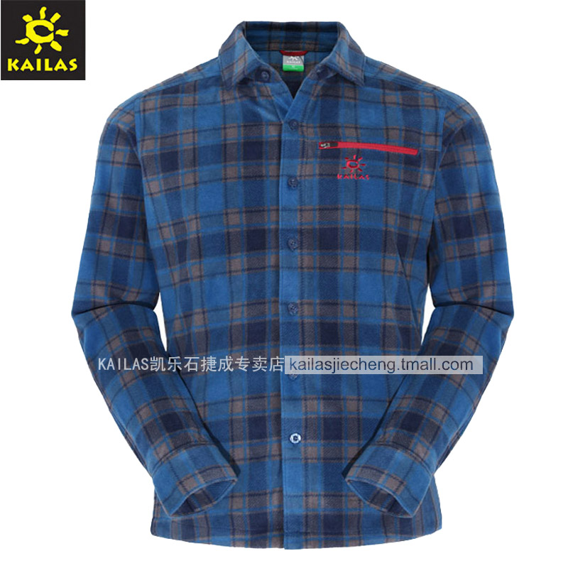 Kaileshi KAILAS Men's Outdoor Leisure and Heating Printed Fleece Shirt KG210152 KG220152