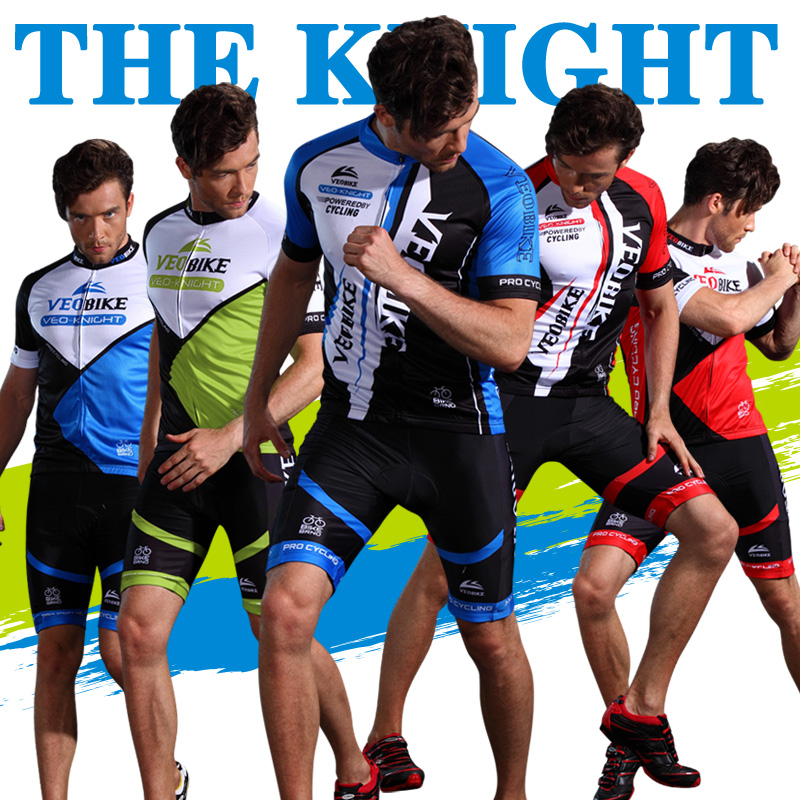 Summer sweaty cycling suit short sleeve suit customized jacket and shorts for men and women mountain bicycle equipment