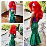 Girl Mermaid tail children small and medium children swimsuit 3 sets of Princess Baby split bikini Mermaid Costume