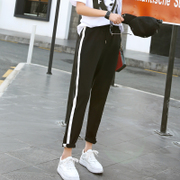 2017 new spring tide students sports pants BF all-match relaxed casual pants Harajuku Haren nine pants.